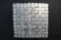Selbstgebautes Aluminiumgeflecht als Füllung für einen Sichtschutz oder ein Balkongeländer