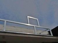 Aluminium Unterkonstruktion für ein Werbeschild