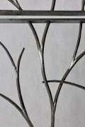 2 Stück handgeschmiedete Fenstergitter zum Schutz und Schmuck