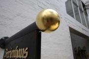 Ausleger aus teilweise vergoldetem Kupfer für das Ferienhaus AM KLEINSTEN HAUS