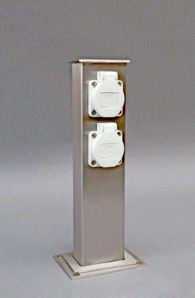 V2A Steckdosen Säule für den Außenbereich