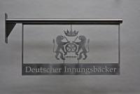 Bäckerei Innungs Ausleger aus Edelstahl