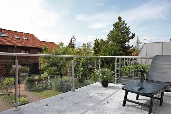 Terrassengeländer aus Edelstahl