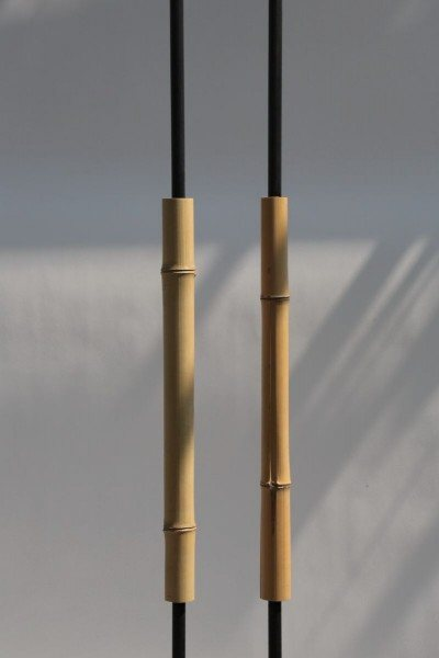 Türgriff aus Bambus und Rundstahl