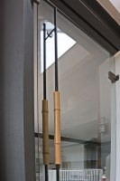 Stangengriff aus Bambus und 20 mm Rundstahl