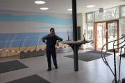 Bänke aus gelasertem Stahl und Beton für die Brinker Schule in Langenhagen
