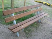Sitzbank mit Bambusbelag