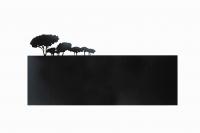 Magnetpinnwand aus Stahl mit Baumkonturen