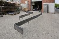 Beeteinfassung für den Garten aus Corten Stahl