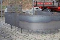 Runde Beeteinfassung aus Corten Stahl