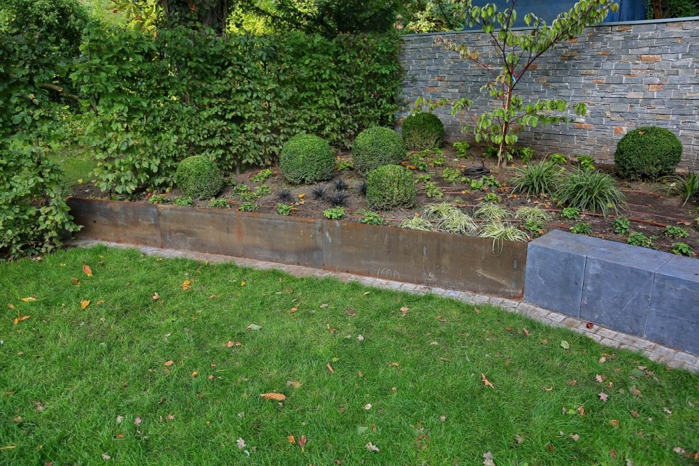 Metallarbeiten aus cor ten stahl f r einen garten in hannover - Garten beeteinfassung ...