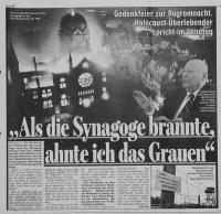 Bericht in der BILD Hannover vom 13.11.08 über das Denkmal für die jüdischen Ärzte