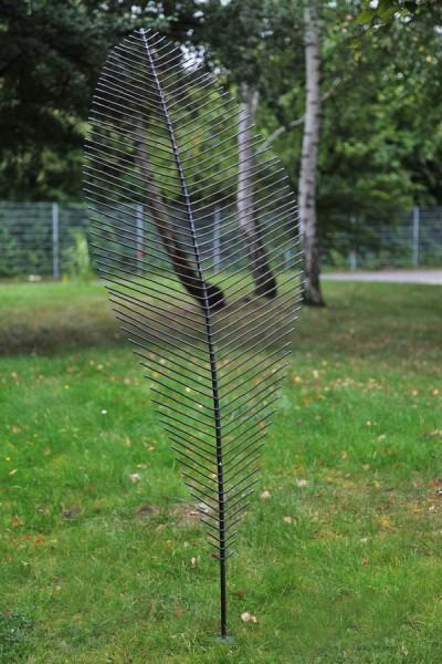 transparentes Blatt für den Garten aus 5 mm Rundeisen
