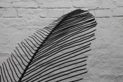 Ein filigranes  Blatt aus Rundeisen