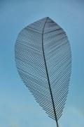 Blattskulpturen aus Stahl