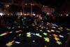 bunte Blätter zum Late Light Shopping als Projektion auf der Lilie in Hildesheim