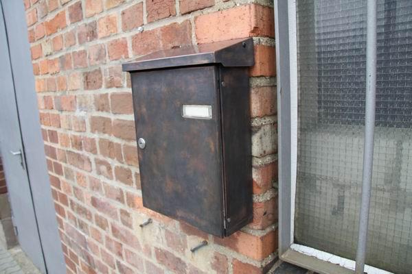 Standard Briefkasten mit Kupferfolie belegt