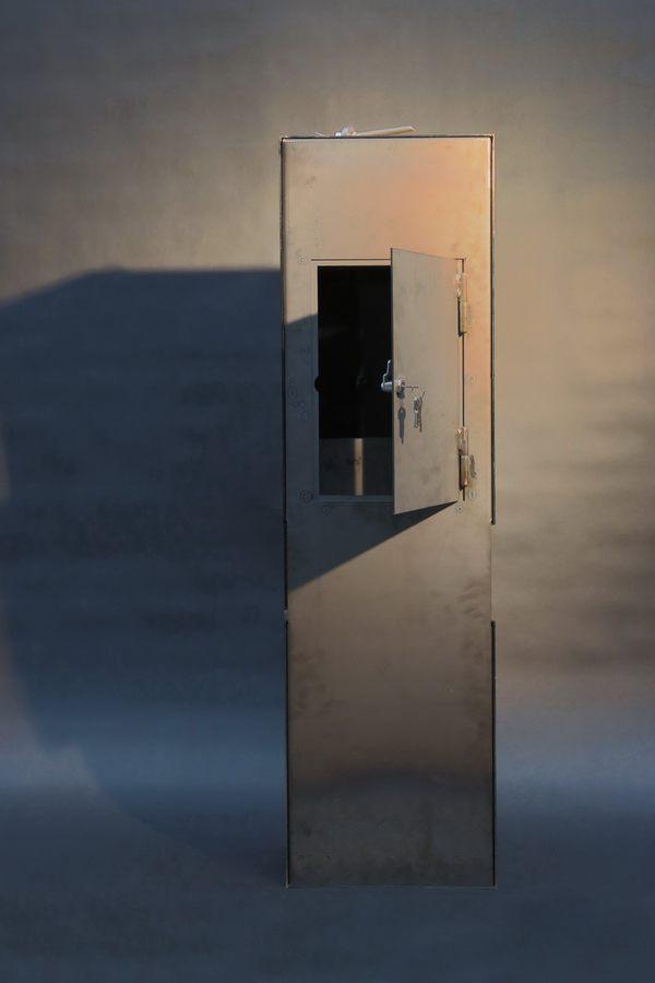 freistehende briefkastens ule aus corten stahl. Black Bedroom Furniture Sets. Home Design Ideas