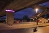 Brücken- und Straßenbeleuchtung des Platzes unter der Nord Süd Brücke in Peine.