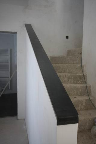 br stungsgel nder aus bandstahl 100 x 8 klar lackiert. Black Bedroom Furniture Sets. Home Design Ideas