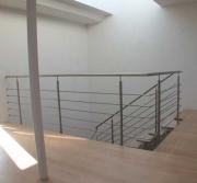 Treppen- und Brüstungsgeländer aus Edelstahl, Preis per lfm