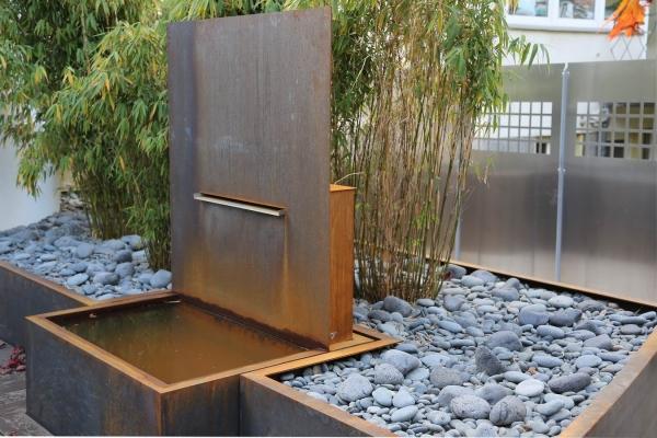 metallarbeiten aus cor ten stahl f r einen garten in hannover. Black Bedroom Furniture Sets. Home Design Ideas