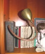 Bronze Buch als Leuchte für Bücherregal