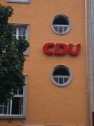 Außenwerbung der CDU Geschäftstelle in Hildesheim