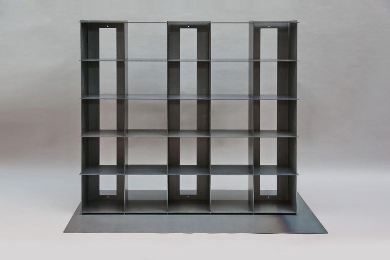 steckbares cd regal aus 3mm verzundertem stahlblech. Black Bedroom Furniture Sets. Home Design Ideas