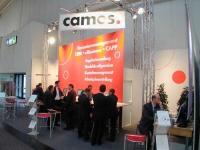 Messestand für Camos auf der CeBit 2004
