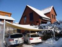 Carport als Segelüberspannung im schneereichen Winter 2009