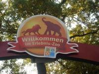 Schilder am Ein- und Ausgang des Hannover Zoos