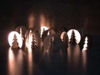 Dreh Tannenbaum im Dreierpack aus Edelstahl