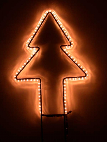 Leuchtweihnachtsbaum, schön gerade