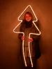 Leuchtweihnachtsbaum; schräg und klein