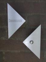 Klingel und Klingelschild,  Edelstahl lasergraviert