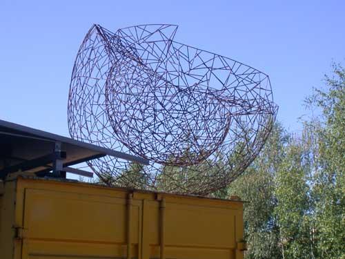 Doppelwandige Skulptur