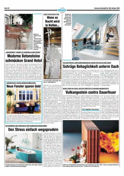 Deutsches Baublatt Nr. 296, Oktober 2002
