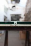 H Profil - Glas Dichtungsprofil um zwei Glasscheiben nebeneinander ab zu dichten. Preis per laufenden Meter