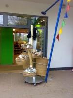 Baumdisplays als Warenträger in Tatzi Tatz Zooshop in Hannover