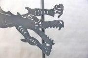 Drachengeländer aus verzinktem und lackiertem Stahl