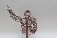 Draht Skulptur aus 3mm Rundstahl