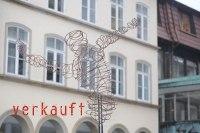 Probeaufbau auf dem Hildesheimer Marktplatz, Skulptur aus 5 mm Stahl Draht
