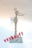 Stehende -  Draht Skulptur aus 1,4 mm Stahldraht