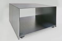 rollbarer Drucker Tisch aus 3 mm Stahl