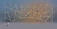 Oberlichtgitter mit Schmitzstruktur für einen Durchgang