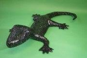 Wahrhaft beeindruckender Gecko aus kleinen Blechteilen