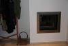 Einfassung aus Edelstahl für einen Tunnelkamin