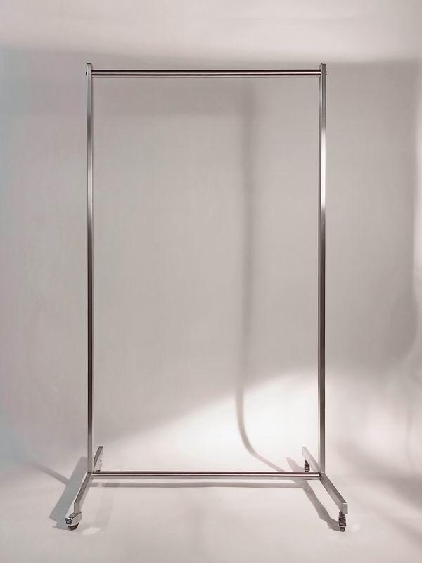 Garderobe wahlweise rollbar aus stahl oder edelstahl for Stuhl edelstahl
