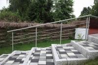 Treppengeländer mit Reling aus Edelstahl